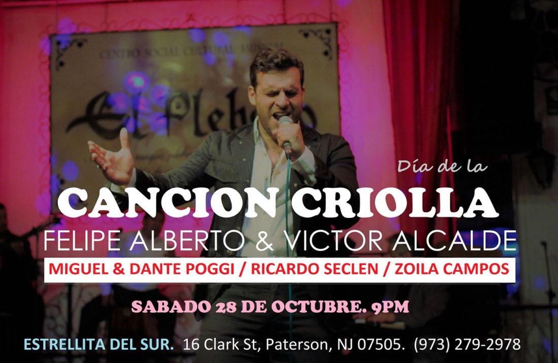 Día de la Canción Criolla New Jersey - Felipe Alberto